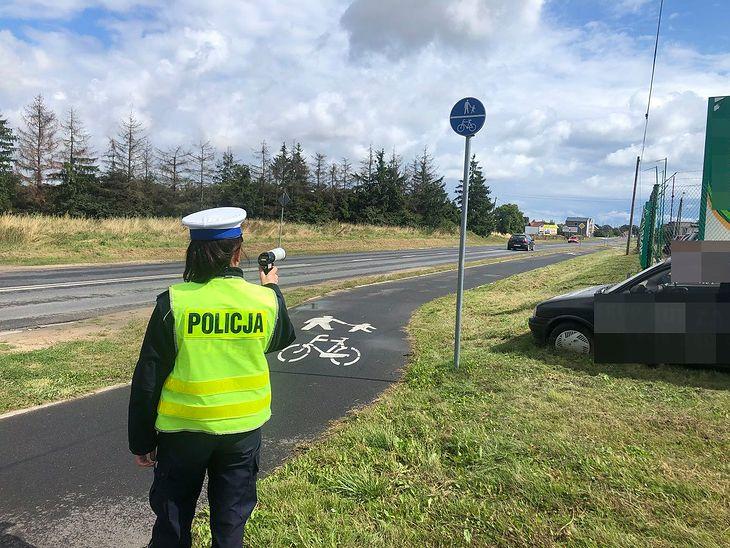 Policja, jeśli zechce, może mierzyć prędkość na ścieżkach rowerowych. Ma uprawnienia i sprzęt