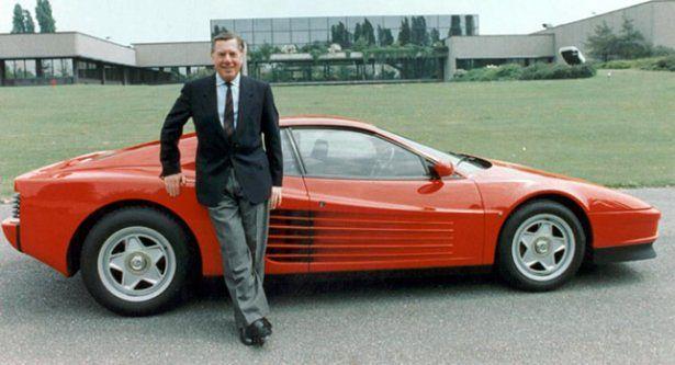 Sergio Pininfarina i Ferrari Testarossa