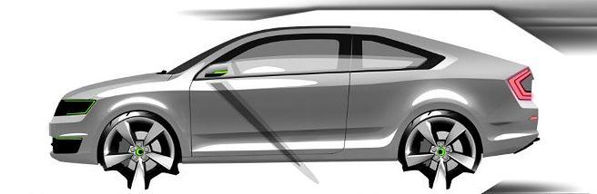 Škoda Rapid Coupé - nieoficjalna wizualizacja