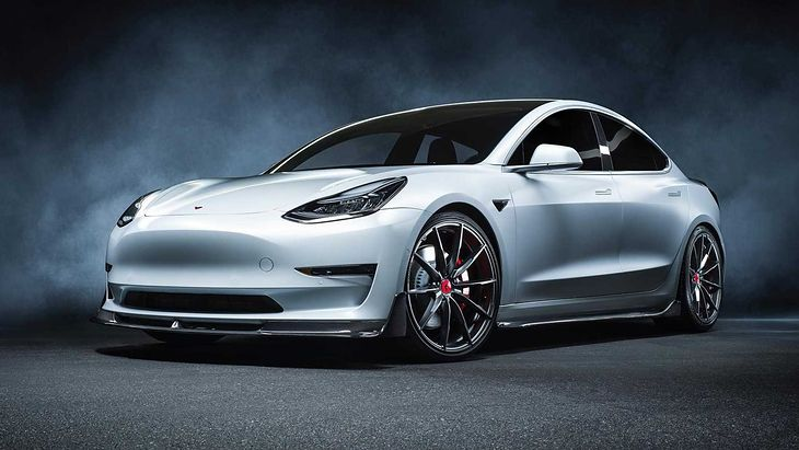 Gdyby Tesla stworzyła ostrą wersję Modelu 3, mógłby on wyglądać właśnie tak.