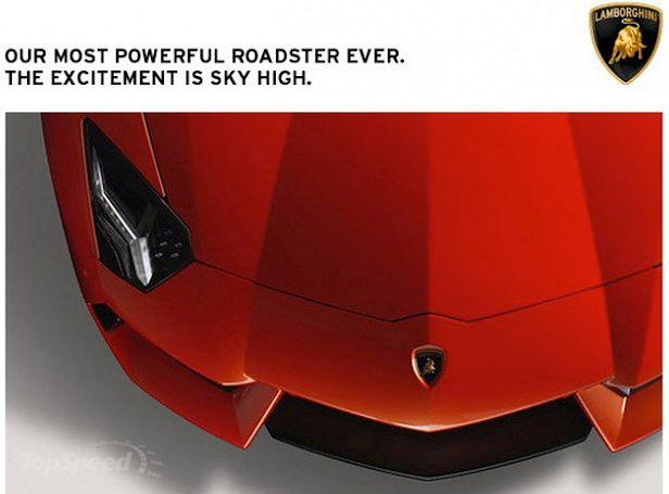 Zapowiedź Lamborghini Aventador Roadster