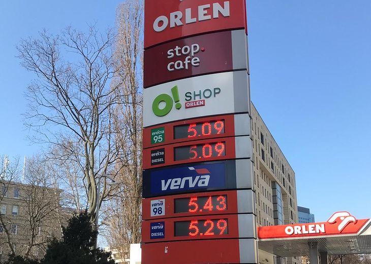 Ceny paliwa przekroczyły już próg 5 zł/litr