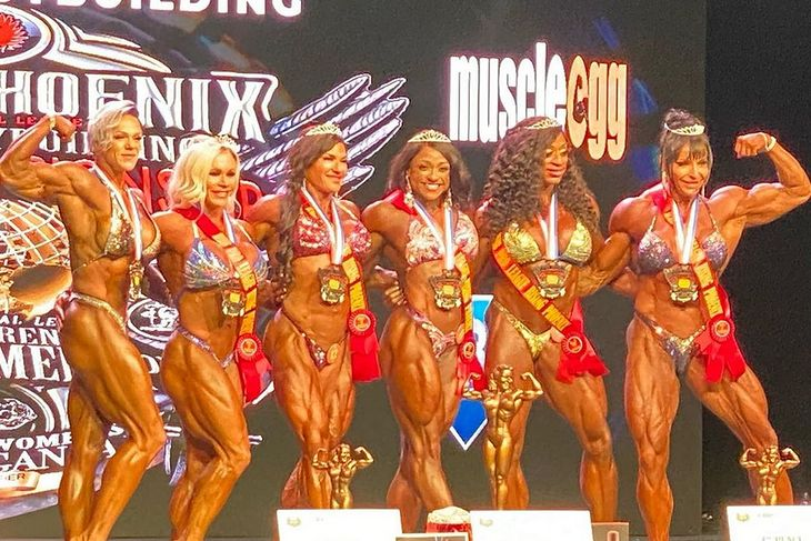 Finalistki 2020 Rising Phoenix Women's Bodybuilding World Championships