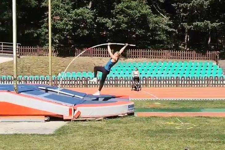 Treningowy skok Piotra Liska w Sopocie