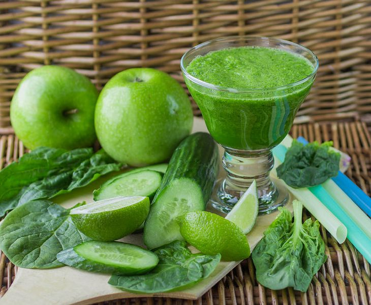 Zielone smoothie z ogórka