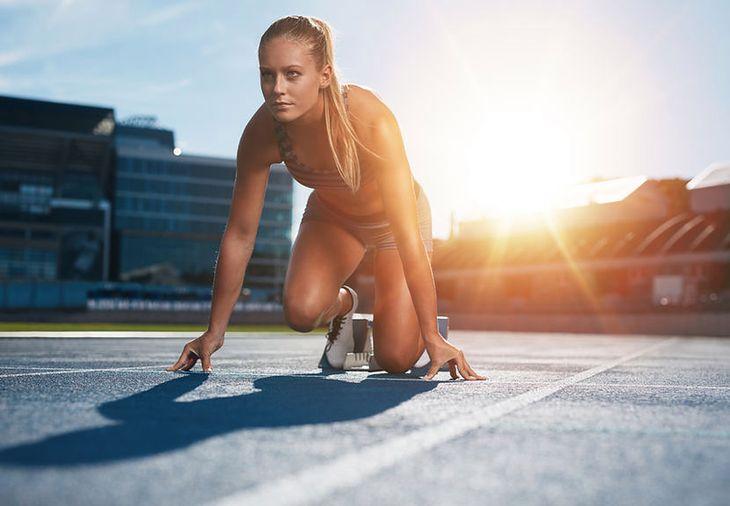Kobieta sportowiec