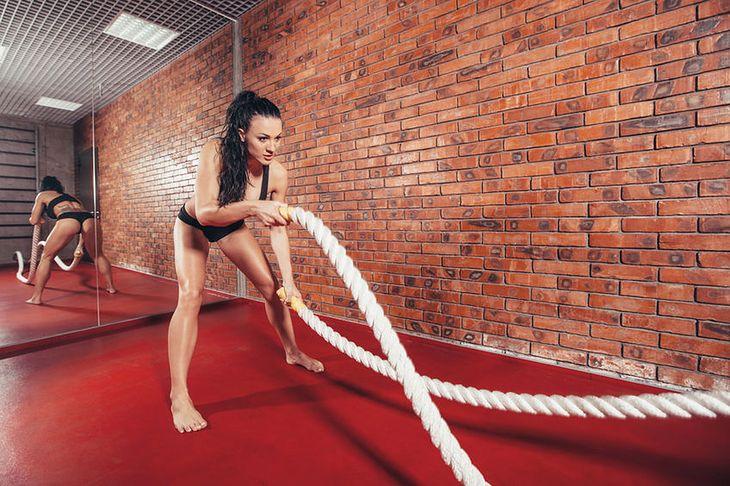 Falowanie liną