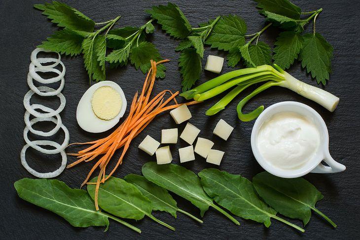 Składniki zupy szczawiowej