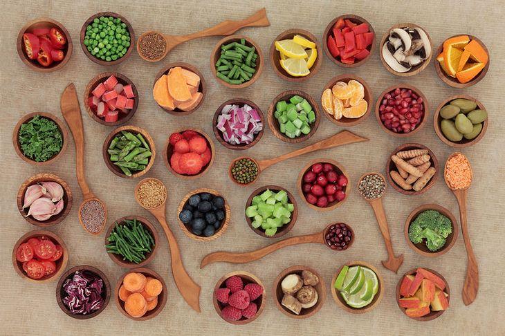 Surowe warzywa i owoce