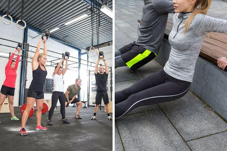 Ćwiczenia na siłowni i na świeżym powietrzu