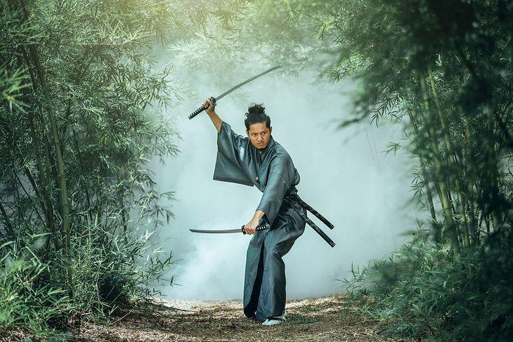 Na zdjęciu: samuraj