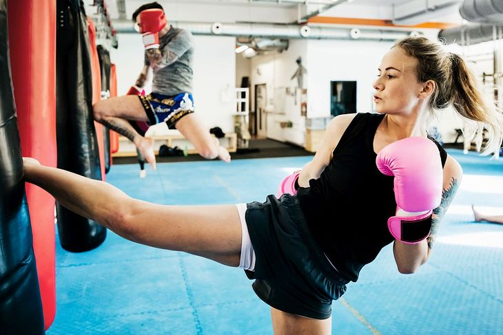 Na zdjęciu: trening kick boxingu