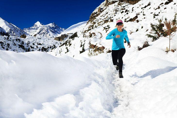 Biegaczka w górach