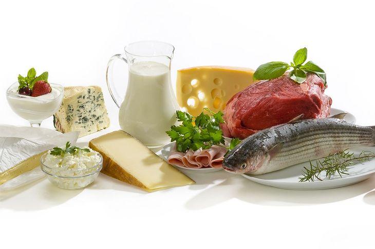 Na zdjęciu: źródła białka