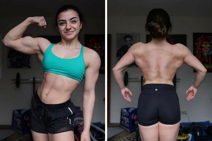Tessy wykonuje trening siłowy od 2 lat