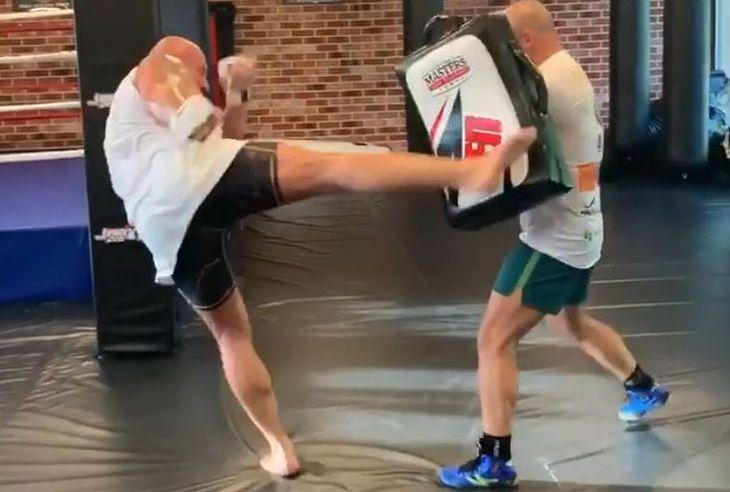 Marcin Najman podczas treningu