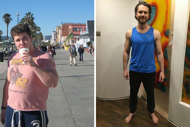 Mateusz Grzesiak przed i po metamorfozie