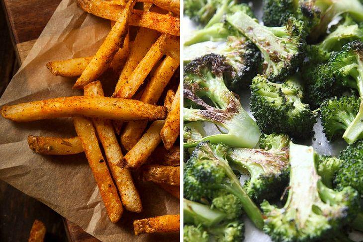 Frytki i brokuły