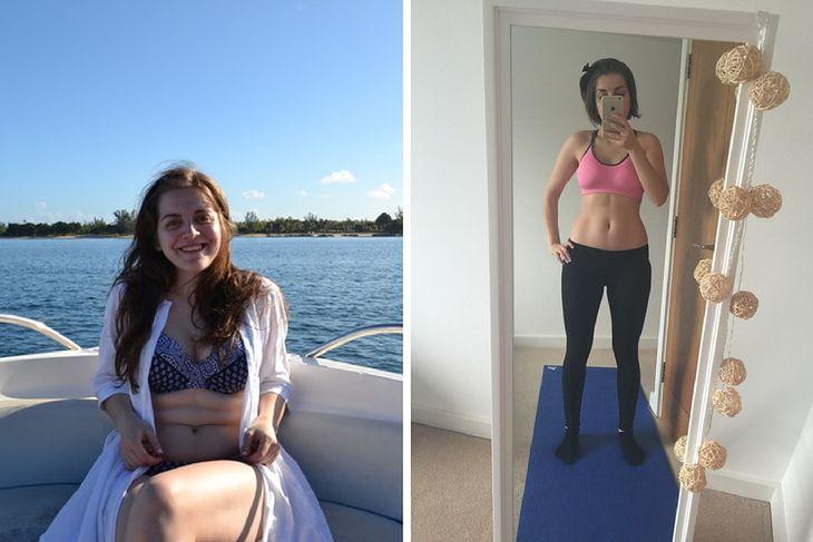 Karina przed i po metamorfozie