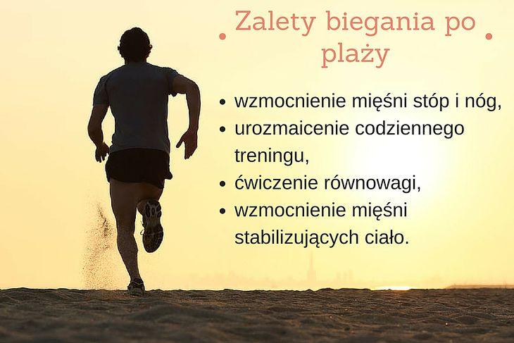 Zalety biegania po plaży