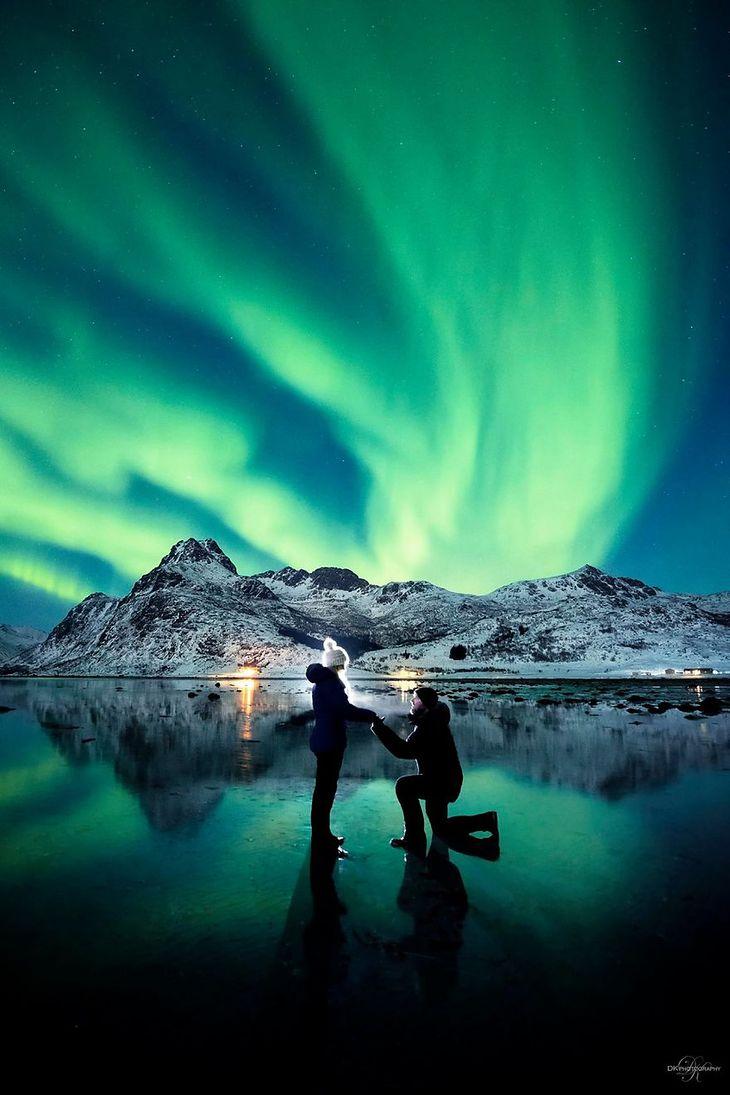 Fotograf Oświadczył Się Pod Osłoną Zorzy Polarnej Zdjęcia Z Tego