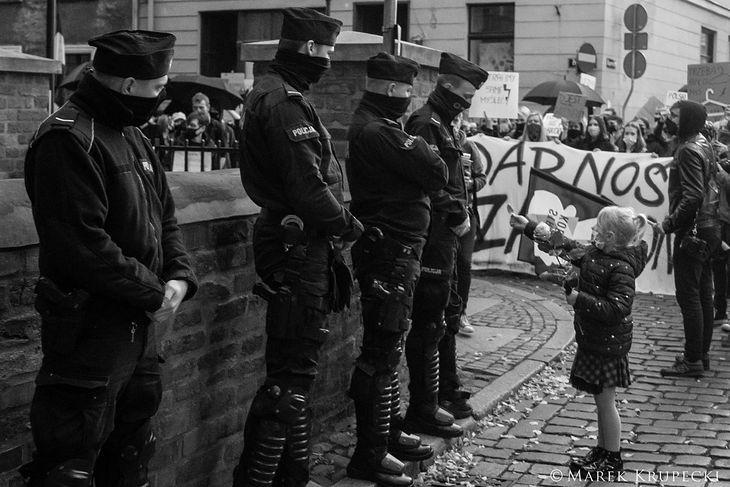 Protesty w Toruniu.
