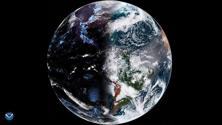 Równonoc wiosenna na zdjęciu satelitarnym.