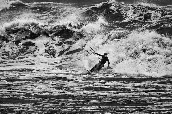 Zwycięzca zawodów Baltic Kite Wave Jam 2016 Janek Korycki