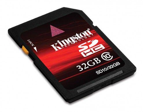 Kingston SDHC - nowe karty pamięci klasy 10