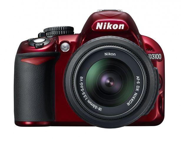 Nikon D3100 Red  – pierwsza kolorowa lustrzanka Nikona