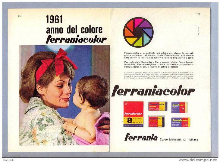 Reklama Ferrania z lat 60.