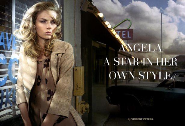 Angela Lindvall, fot.: Vincent Peters, stylistka Victoria Bartlett, źródło: thefashionistoimages.com