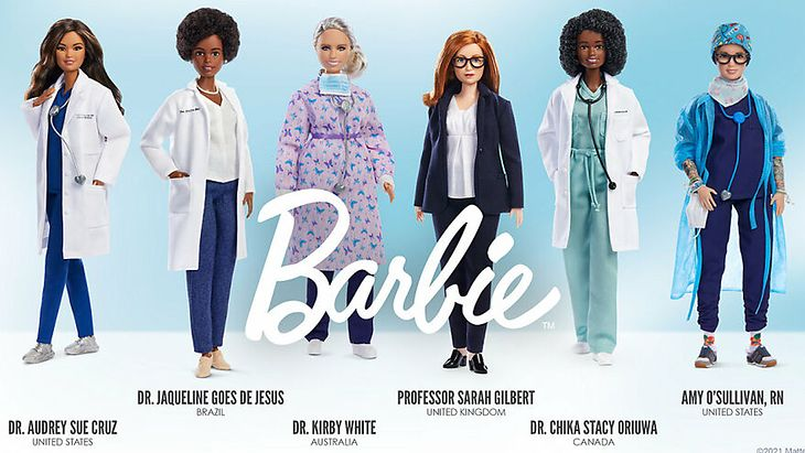 Lalki Barbie stworzone na wzór bohaterek walczących z koronawirusem
