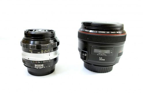 Canon 50mm f/1.2L USM kontra stary Nikkor 50mm f/1.4