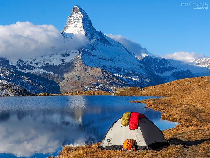 Biwak w Alpach - czyli oczekiwanie na najlepsze światło