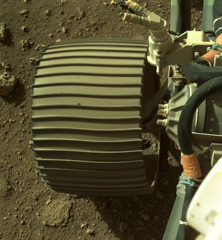 W łaziku Curiosity wykorzystano proste rozwiązania.