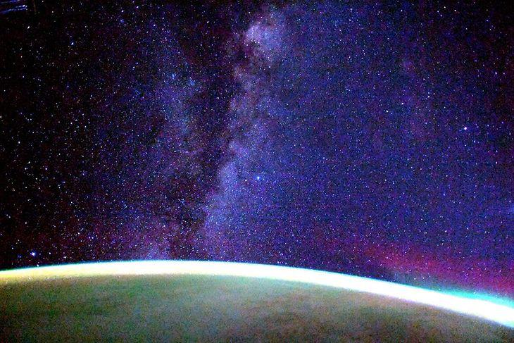 Droga Mleczna okiem Soichi Noguchi, japońskiego astronauty.