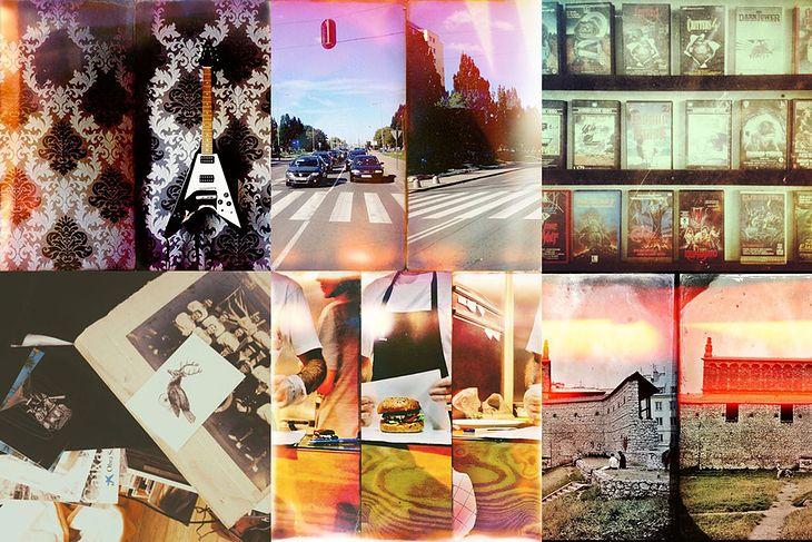 Zdjęcia edytowane aplikacjami Squaready, Flip oraz Camera Plus