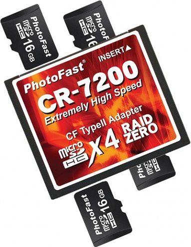 PhotoFast CR-7200 - bardzo ciekawy adapter microSD do CF