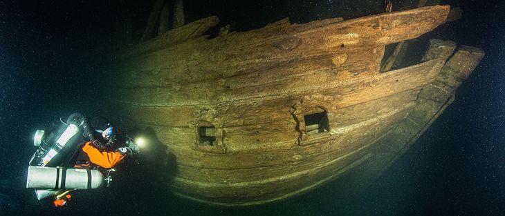 Wrak holenderskiego statku sprzed około czterystu lat.