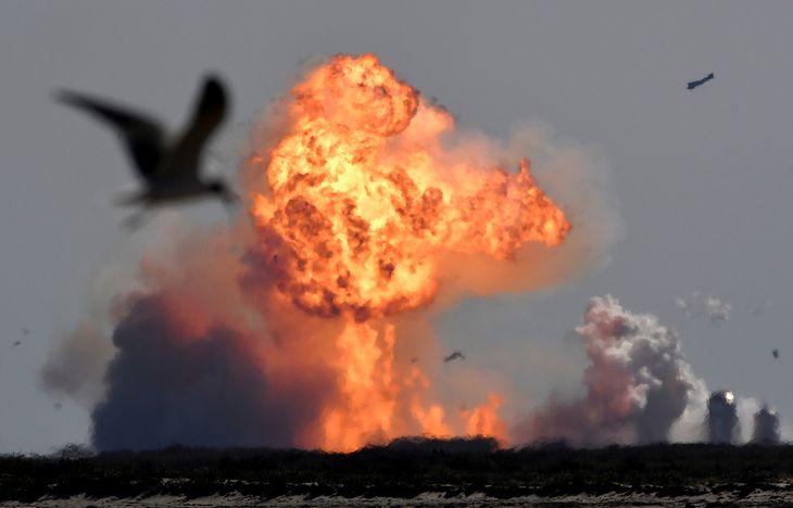 Eksplozja rakiety Elona Muska