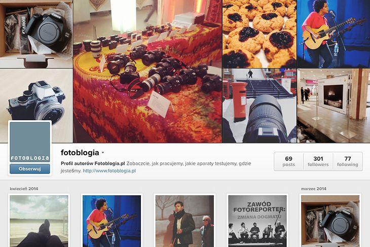 Profil Fotoblogii na Instagramie