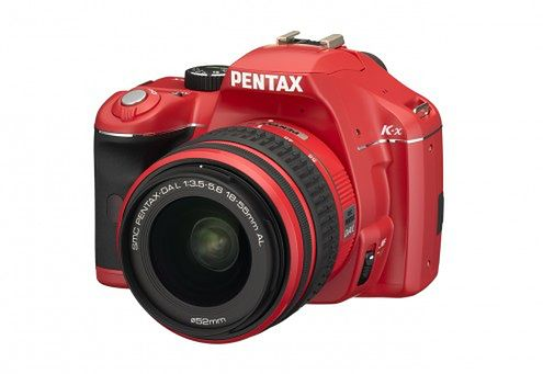 Piękny (?) czerwony Pentax K-x