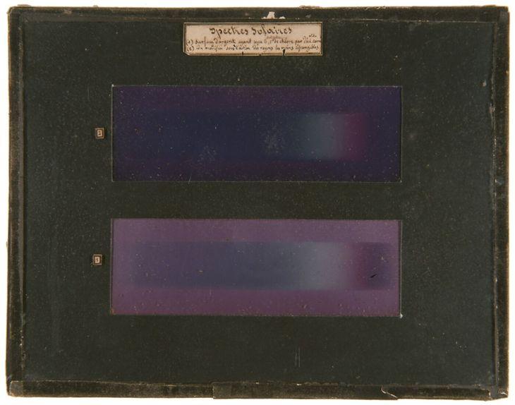 Spektrum solarne Edmonda Becquerela, 1848 roku.