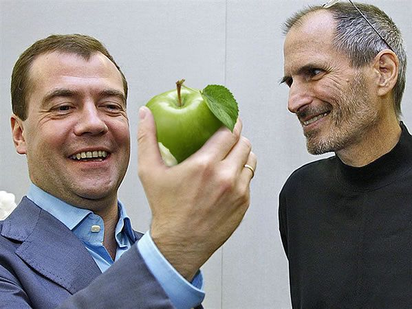Medvedev lubi jabłka ...