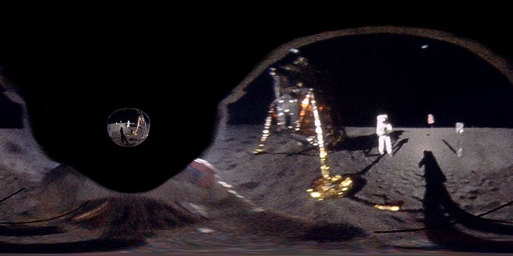 Przerobione zdjęcie z Księżyca.