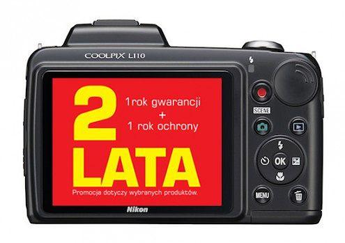 Nikon Polska oferuje 2 lata gwarancji - na kilka modeli