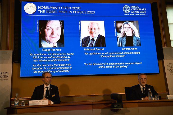 David Haviland oraz Goran K. Hansson ogłosili nazwiska laureatów Nagrody Nobla 2020