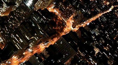 Nowy Jork i Moskwa. Time lapse i slow motion.