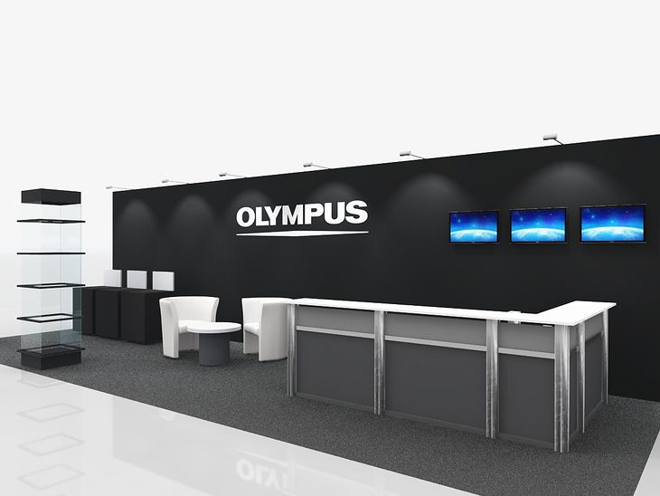 Wizualizacja stoiska firmy Olympus Polska.